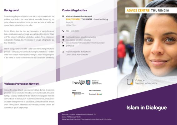 Flyer Advice Centre Thuringia – Islam in Dialogue EN