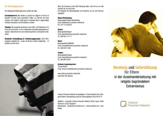 Flyer Beratung für Eltern bundesweit