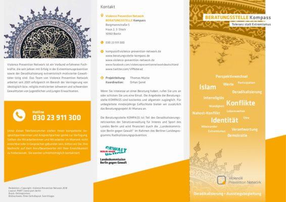 Flyer Beratungsstelle KOMPASS DE