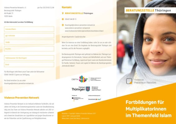 Flyer Beratungsstelle Thüringen – Fortbildungen