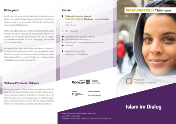 Flyer Beratungsstelle Thüringen – Islam im Dialog DE
