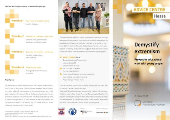 Flyer Demystify Extremism EN