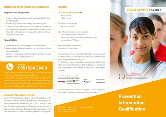 Flyer Advice Centre Saxony EN