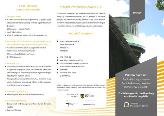 Flyer PRISMA Sachsen – Die Fortbildungsangebote