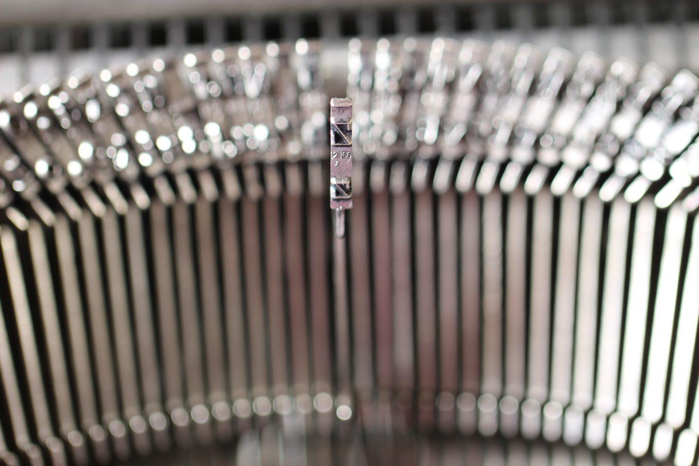 Buchstaben einer alte Schreibmaschine