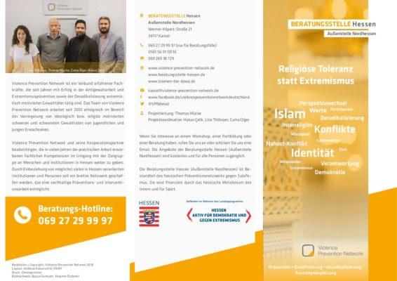 Flyer Beratungsstelle Hessen – Außenstelle Nordhessen 2018 DE