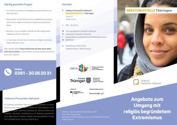 Flyer Beratungsstelle Thüringen – Allgemeine Angebote