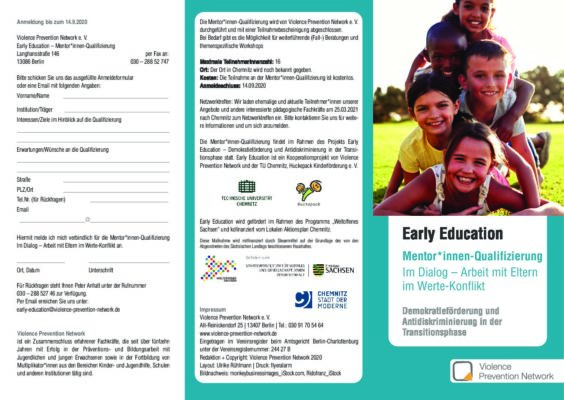 Flyer Early Education – Qualifizierung 2020
