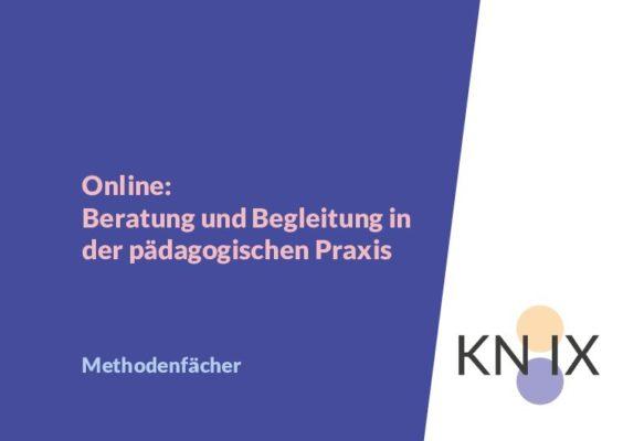 Methodenfächer – Online: Beratung und Begleitung in der päd. Praxis