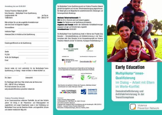 Flyer Early Education – Qualifizierung 2021