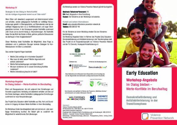Flyer Early Education – Workshops 2021