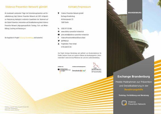 Exchange Brandenburg Bewährungshilfe – Flyer