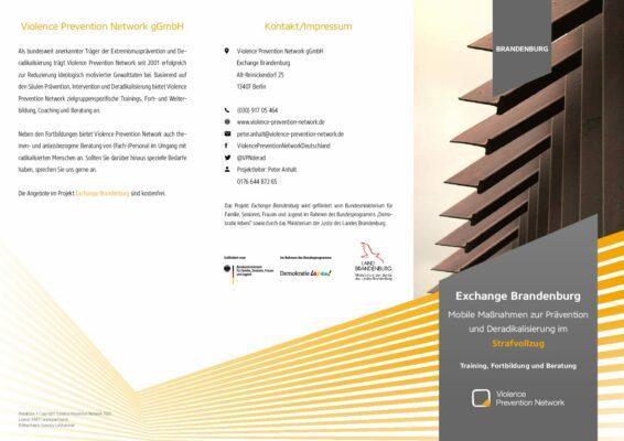 Exchange Brandenburg Strafvollzug – Flyer